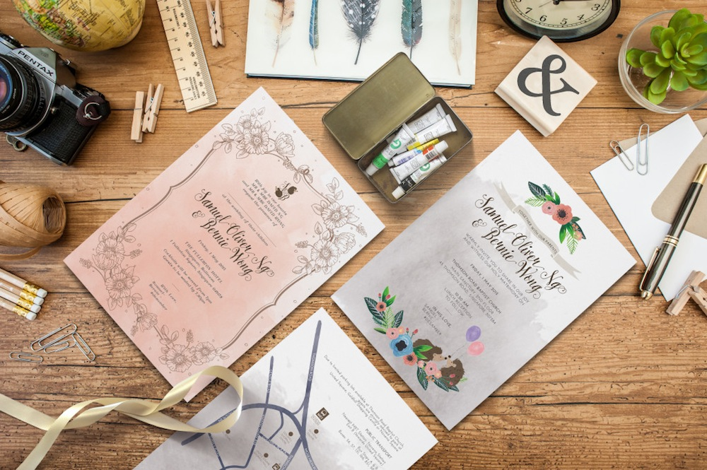 Wedding invitation cards in Singapore: 20 printers to order stylish custom made stationery Honeybrides