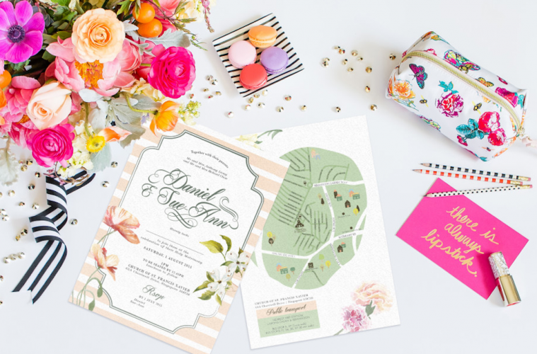 Wedding invitation cards in Singapore Printers to order stylish