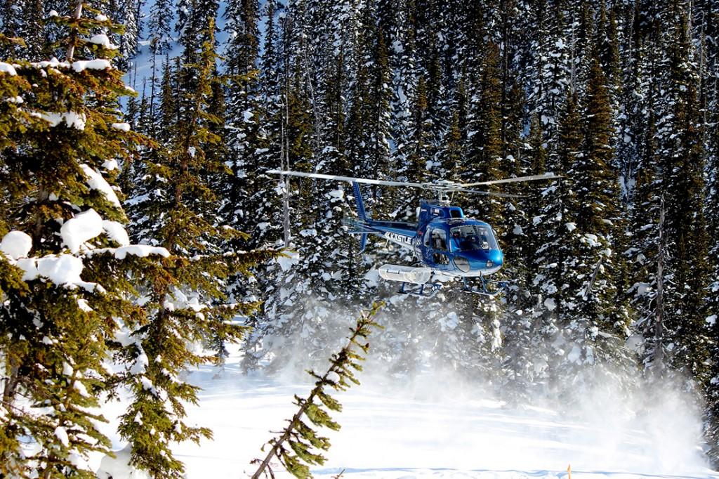 Heli-skiing in the Canadian Rockies