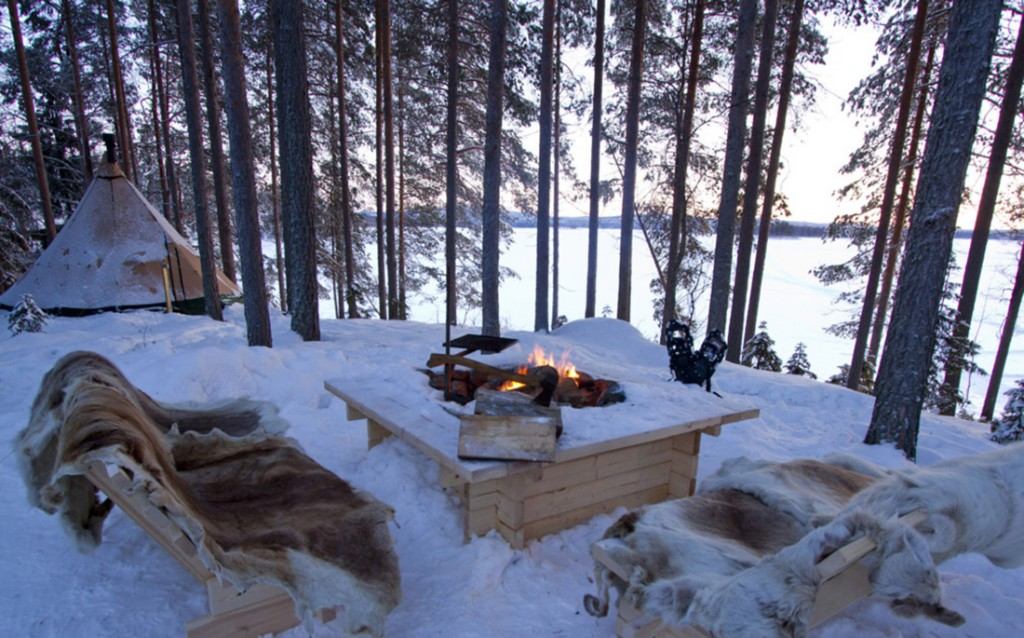 A glamping honeymoon in Lapland