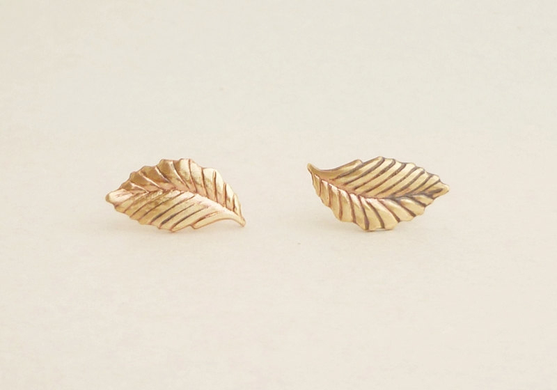 Gold-leaf-earrings