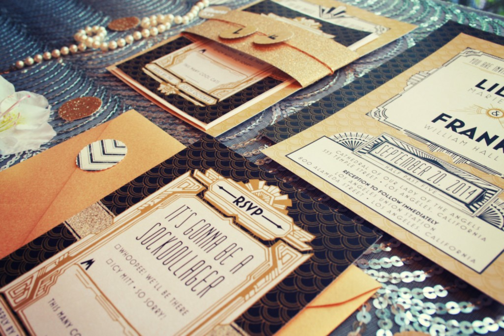 Great Gatsby wedding invite Etsy
