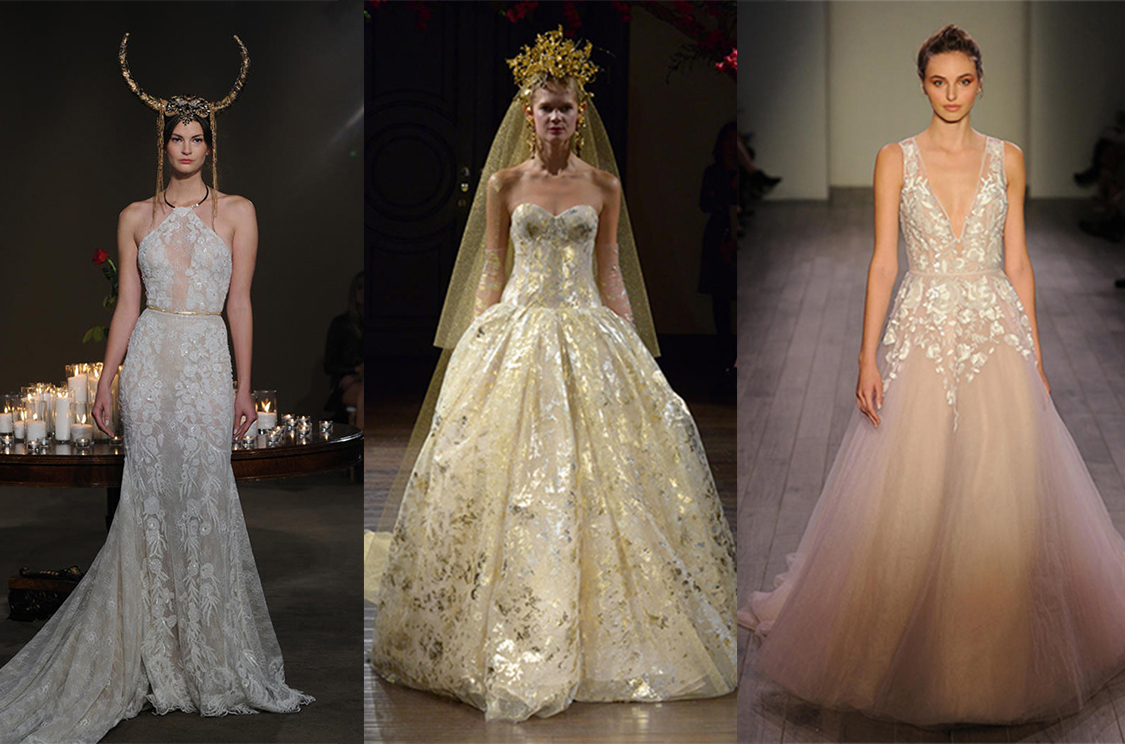 Designer wedding gowns the best fall winter 2016 for Wedding dress boutiques in nyc