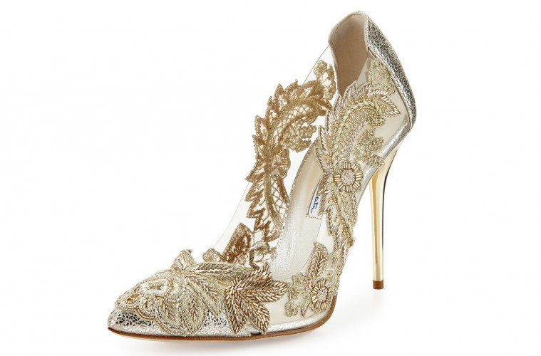 Wedding shoe trends: Shopping for shiny, metallic bridal and ...