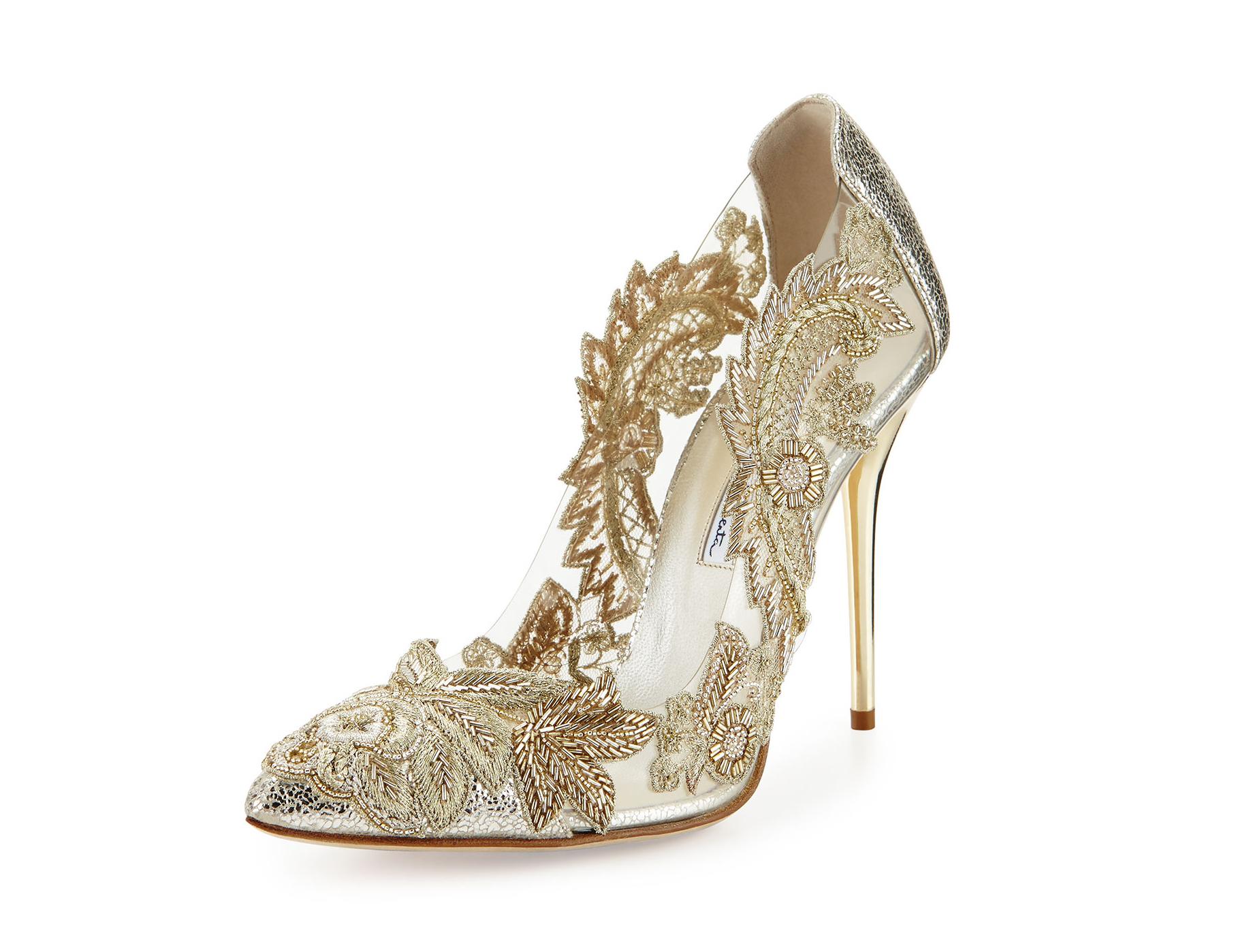 Wedding Shoe Trends Shopping For Shiny Metallic Bridal