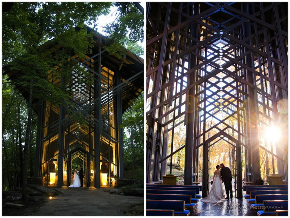 most beautiful places in the world to get married Honeybrides Thorncrown Chapel