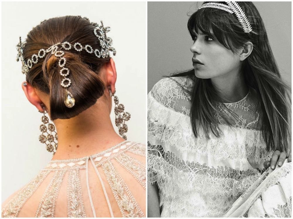 wedding hairstyles bridal fashion week Honeybrides jewellery