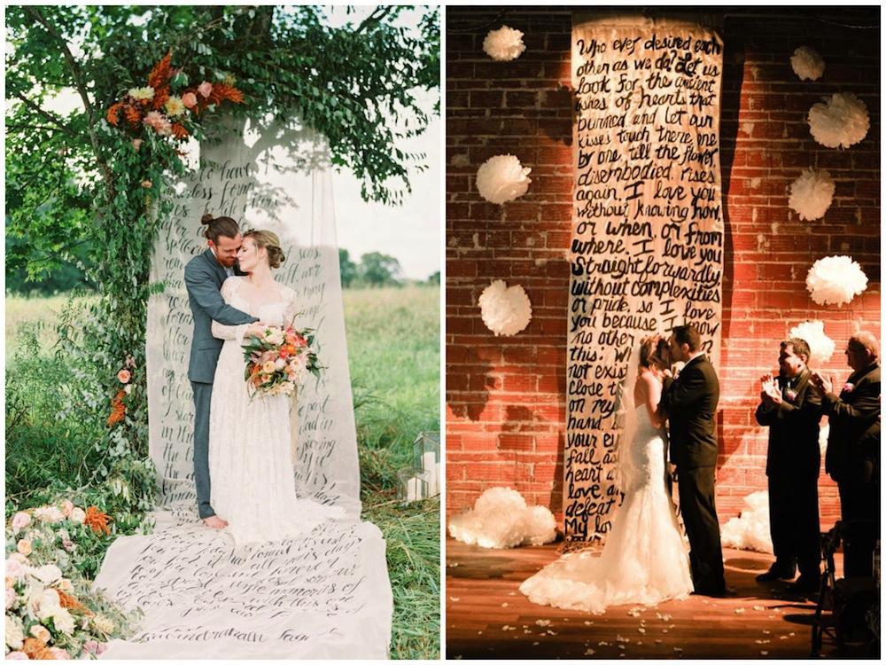 wedding backdrops Honeybrides