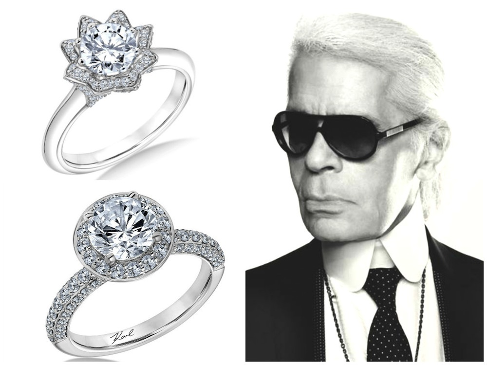 Wedding jewelry Karl Lagerfeld designs a line of engagement rings