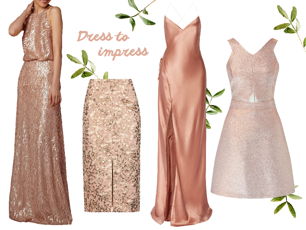 rose gold dresses