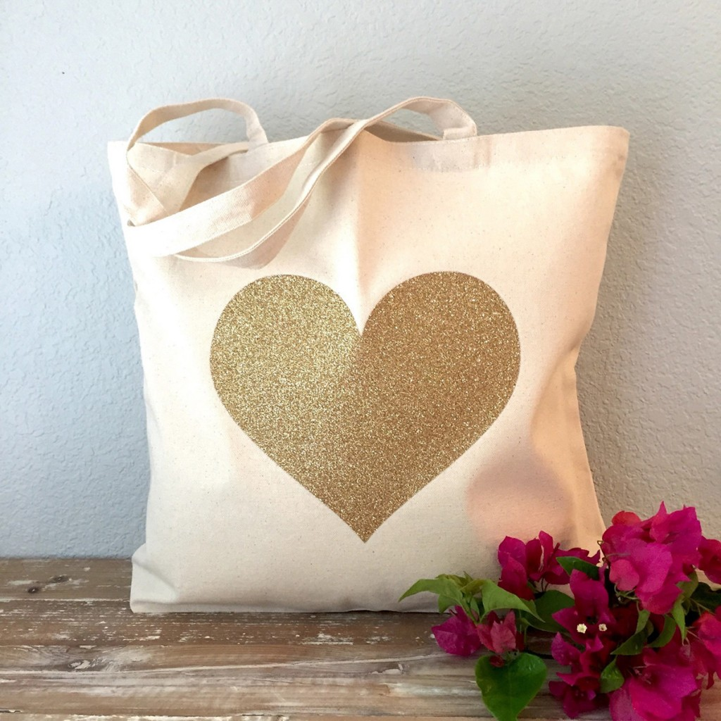 Gold-heart-tote