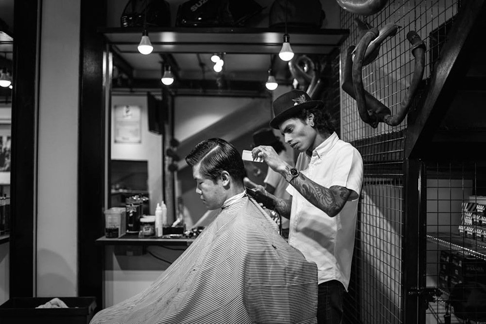 Men's grooming Singapore Grease Monkey Barber Garage