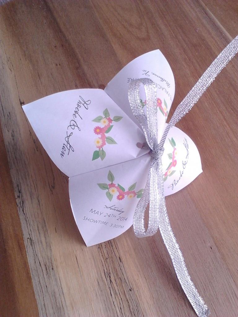 Fortune teller origami wedding invite Etsy