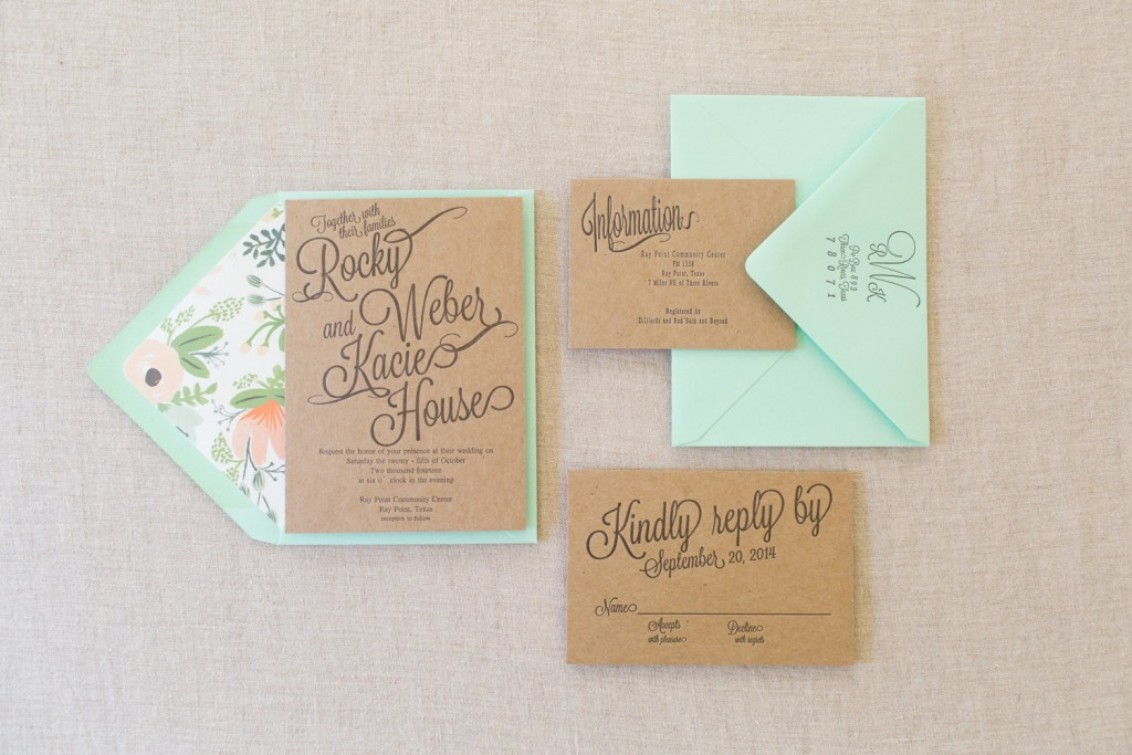 Letterpress chipboard wedding invite Etsy