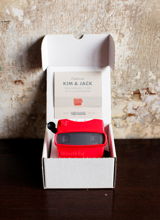 Viewmaster wedding invite Etsy