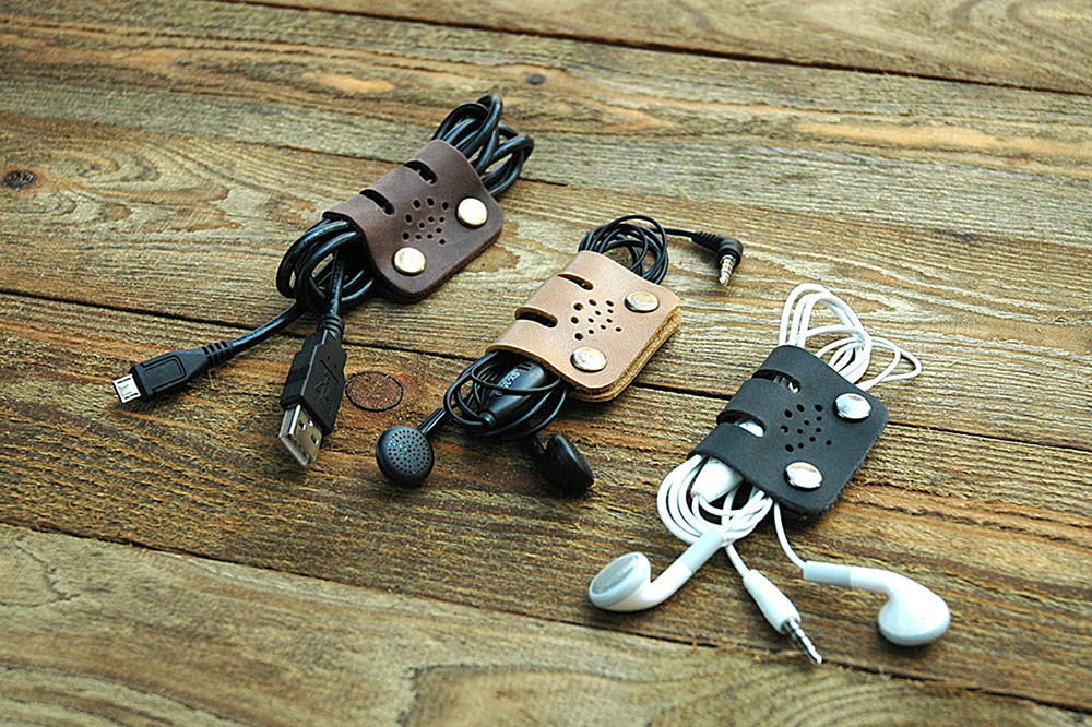 Leather Cable Bands Etsy