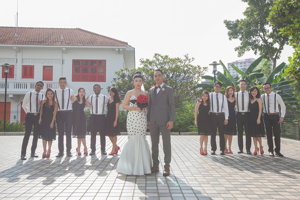 d5bbb3360a9f35 Real weddings in Singapore  Vanessa and Adriel s retro