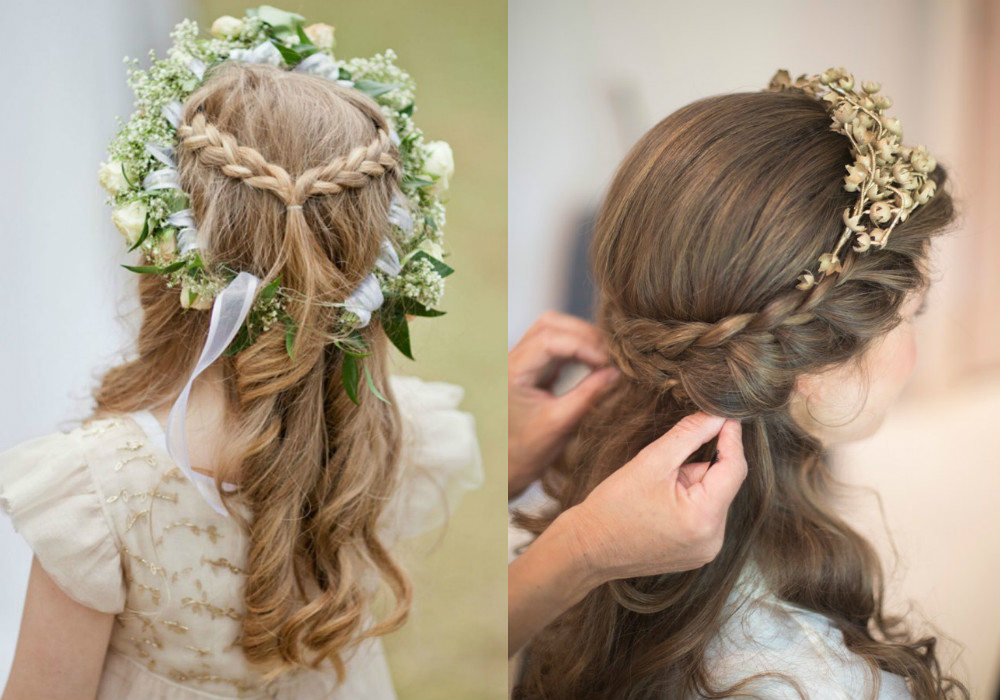 wedding hairstyles for girls Honeybrides
