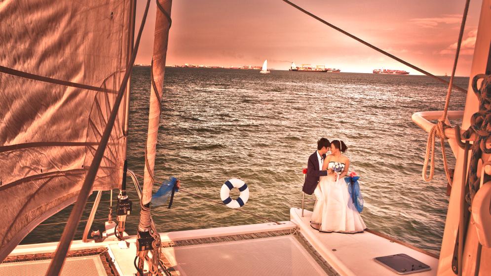 Yacht wedding in Singapore: Marine Bookings