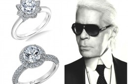 Wedding jewelry: Karl Lagerfeld designs a line of engagement rings
