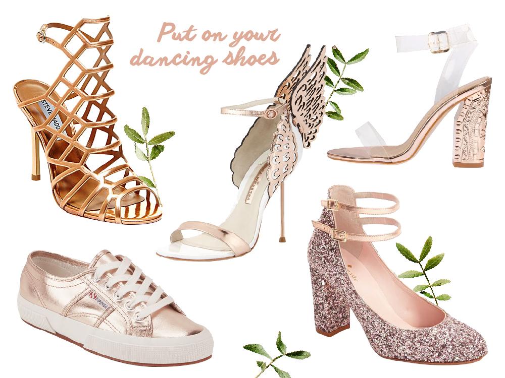 rose gold wedding shoes heels