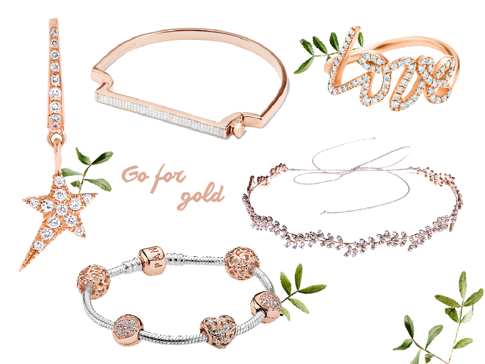 rose gold rings jewelry